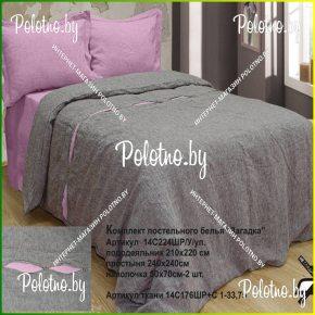 Купите комплект «Загадка» лен евро размера умягченный — льняное постельное белье
