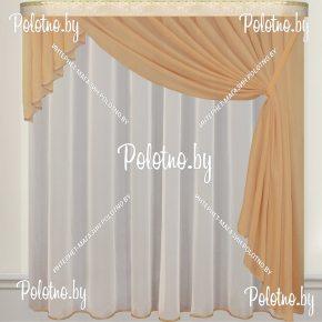 Комплект готовых штор для кухни от велес текстиль групп