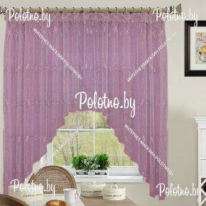 Готовые шторы для кухни Лилиана фиолетового цвета