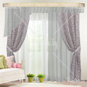 Комплект готовых штор Омега — 2.5 серый №2