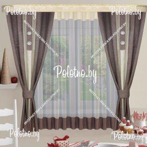 Готовый комплект штор стелла с плотными ночными шторами