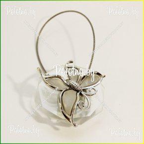 магнит для штор бабочка серая