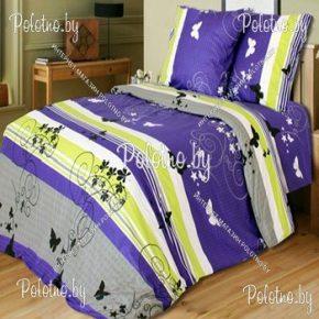 Купите комплект «Мотыльки» бязь полуторный 50х70 — бязевое постельное белье
