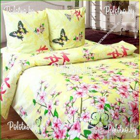 Комплект постельного белья евро размера Цветение сакуры