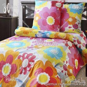 Купите комплект «Цветик-семицветик» бязь двуспальный — бязевое постельное белье