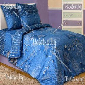 Комплект полуторный подростковый постельного белья Джинс из бязи