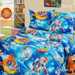 Комплект детский постельного белья Космики из бязи