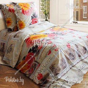 Комплект постельного белья евро размера май лав из бязи