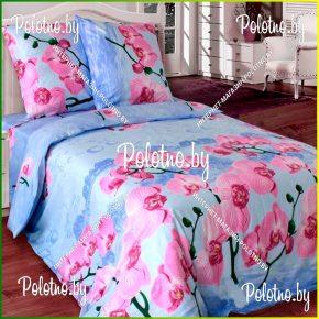 Купите комплект «Орхидея» бязь полуторный 70х70 — бязевое постельное белье