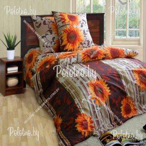 Купите комплект «Подсолнухи» бязь двуспальный — бязевое постельное белье