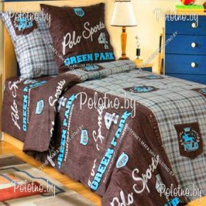 Комплект подростковый полуторный постельного белья Поло из бязи
