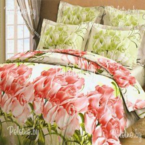 Комплект постельного белья евро размера Коллекционные розы из бязи
