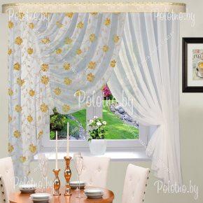 Готовые шторы для кухни Виктория астра