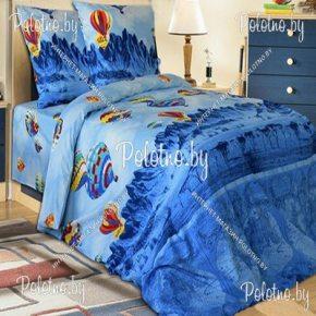 Комплект полуторный подростковый комплект постельного белья Аэростат