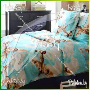 Комплект полуторный подростковый постельного белья Авиаторы