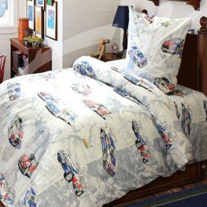 Детский полуторный комплект постельного белья авторалли