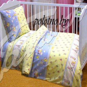 Детский комплект постельного белья буслик в кроватку