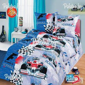 Детский полуторный комплект постельного белья Формула 1