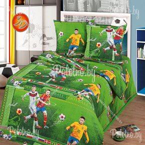 Детский полуторный комплект постельного белья Футбол