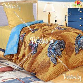 Комплект детский полуторный постельного белья Квадроциклы
