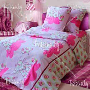 Комплект полуторный подростковый постельного белья Кэтрин из бязи