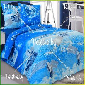 Купите комплект «Космос» бязь полуторный — бязевое постельное белье