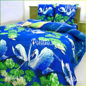 Комплект полуторный детский постельного белья Лебеди