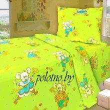 Комплект детский в кроватку Мышата бязь