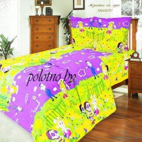 Детский комплект постельного белья незнайка в кроватку