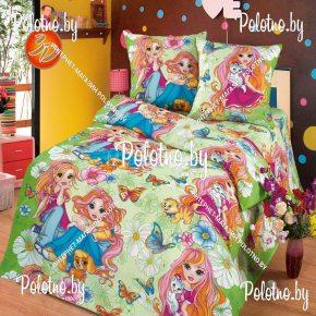 Купите комплект «Подружки» бязь детский полуторный — бязевое постельное белье