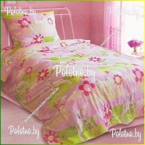 Комплект полуторный детский постельного белья Пони из бязи