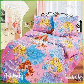 Детский полуторный комплект постельного белья Принцессы