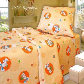 Детский комплект постельного белья пуговки в кроватку