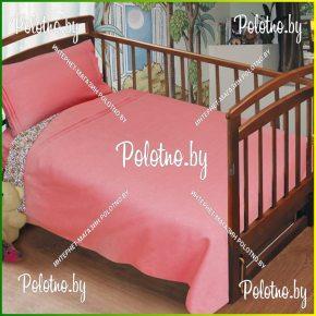Льняное детское постельное белье маша и миша в кроватку