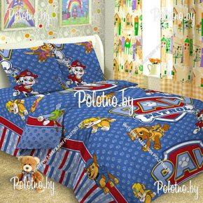 Детский полуторный комплект постельного белья Щенячий патруль 1.5 поплин