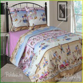 Комплект детский полуторный  постельного белья Шопинг (Shopping)