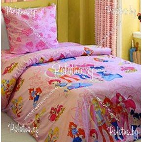 Детский комплект постельного белья винкс в кроватку