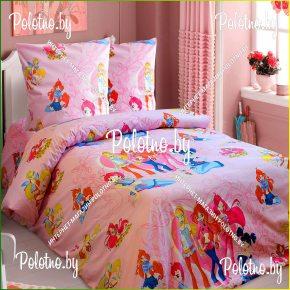 Комплект детский полуторный постельного белья винкс