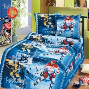 Комплект полуторный детский постельного белья Хоккей со слонами