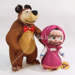 Мягкие игрушки Миша+Маша из мультфильма Маша и Медведь
