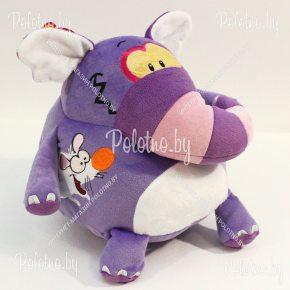 Мягкая игрушка Слон-шарик фиолетовый