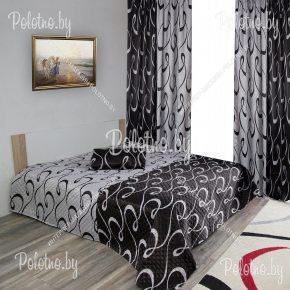 Комплект готовых штор с покрывалом для спальни Дуэт