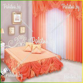 Комплект для спальни фелиция с двухсторонним покрывалом