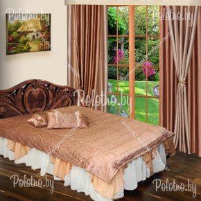 Комплект для спальни Габриэла с покрывалом коричневого цвета
