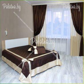 Комплект готовых штор с покрывалом для спальни Модерн