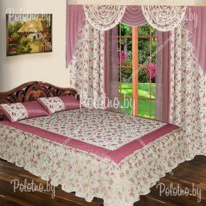 Комплект для спальни Уют сиреневого цвета