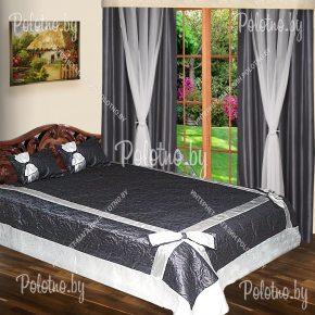 Комплект готовых штор с покрывалом для спальни Модерн графит