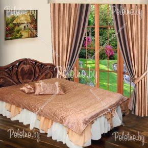 Шторы с покрывалом в комлпекте для спальни