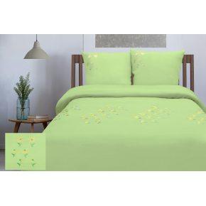 Льняное постельное бельё Ромашки с вышивкой