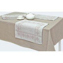 Комплект столовый Милан-2 лен 143х250